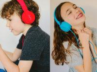"""""""ヘッドホン難聴""""から子供を守る! 85dBの音量制限付き安心ヘッドホン"""
