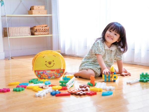 ミッキーの可愛いパズルやプーさんのブロックも! 学研×ディズニーの知育玩具が登場